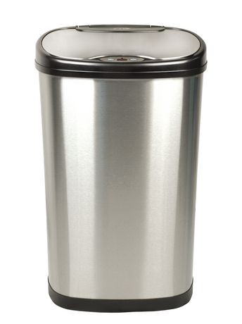 nine stars motion sensor oval touchless 13-gallon trash can