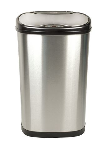 nine stars motion sensor oval touchless 13gallon trash can stainless steel walmart canada