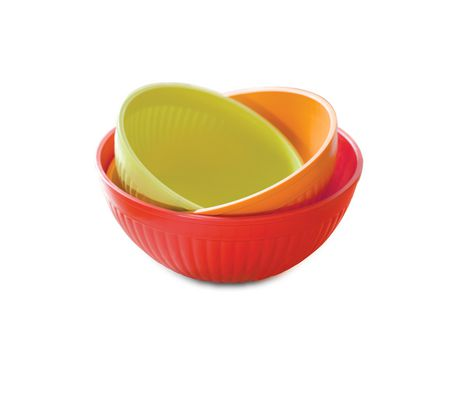 Red, orange and yellow 3-piece mixing bowl set from Nordicware