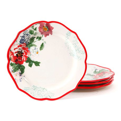 The Pioneer Woman Country Garden 4-Pack 10.5  Decorated Dinner Plates | Walmart Canada  sc 1 st  Walmart Canada : dinner plates walmart - pezcame.com