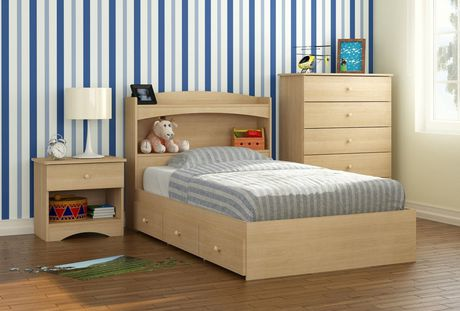 Nexera Alegria Collection Twin Size Maple Storage Bed & Nexera Alegria Collection Twin Size Maple Storage Bed | Walmart Canada