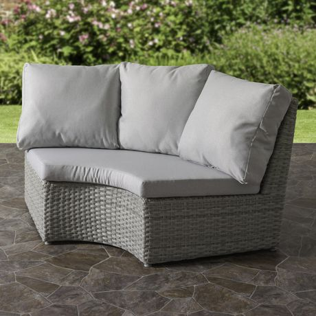 CorLiving Brisbane Weather Resistant Resin Wicker Curved Corner Patio Chair - image 2 of 7