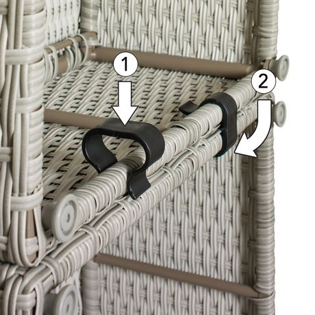 CorLiving Brisbane Weather Resistant Resin Wicker Curved Corner Patio Chair - image 3 of 7