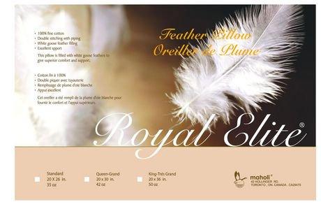oreiller en plumes de royal elite. Black Bedroom Furniture Sets. Home Design Ideas