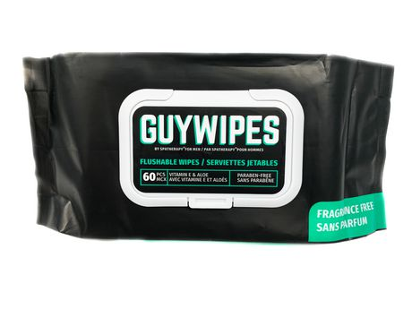Guy Wipes Flushable Wipe, Unscented, 1 pack- 60 Count - image 1 of 1