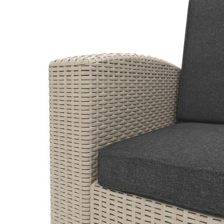CorLiving Adelaide 4pc All-Weather Resin Rattan Chair and ...