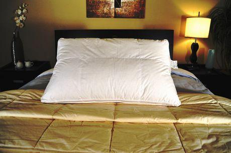oreiller de duvet d oie blanc royal elite avec finition passepoil e walmart canada. Black Bedroom Furniture Sets. Home Design Ideas