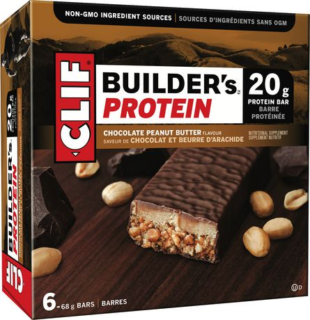 Clif Builder's Protein Bar, Chocolate Peanut Butter, 68g, Non-GMO Bar, 6 Ct - image 1 of 2