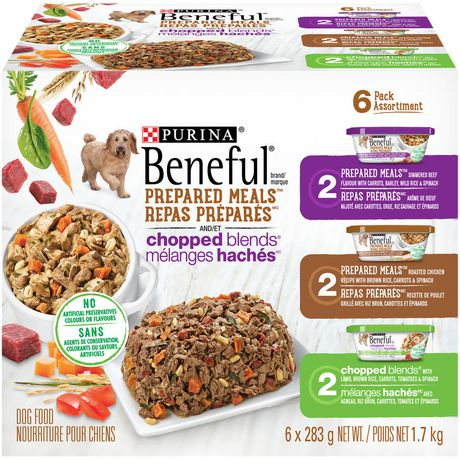 Beneful Prepared Meals & Chopped Blends Wet Dog Food Variety Pack - image 1 of 4