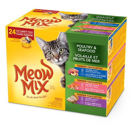 Meow Mix Poultry & Seafood Cat Food Variety 24 Pack - image 1 of 3