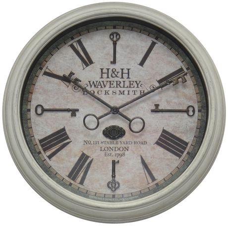 hometrends horloge murale blanche cl s walmart canada. Black Bedroom Furniture Sets. Home Design Ideas