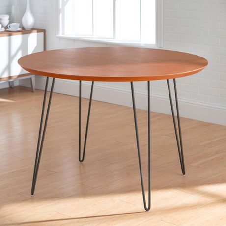 Manor Park 4 Person Mid Century Modern Round Dining Table - image 1 of 7
