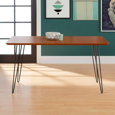 Manor Park 6 Person Mid Century Modern Rectangle Dining Table Walmart Canada