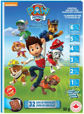 regal confections paw patrol chocolate milk advent calendar walmart canada. Black Bedroom Furniture Sets. Home Design Ideas