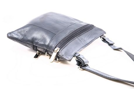Champs Leather Zipper Sling Bag - image 3 of 3