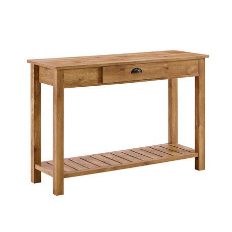 Table Console D Entree Style Rustique De 121 9 Cm 48 Po Bois De
