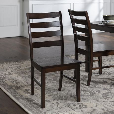 Wood Ladder Back Dining Chair Set of 2 - Walnut - image 1 of 4 ... & Wood Ladder Back Dining Chair Set of 2 - Walnut | Walmart Canada