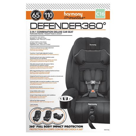 Defender 360° 3-in-1 Combination Deluxe Car Seat - Midnight - image 6 of 9