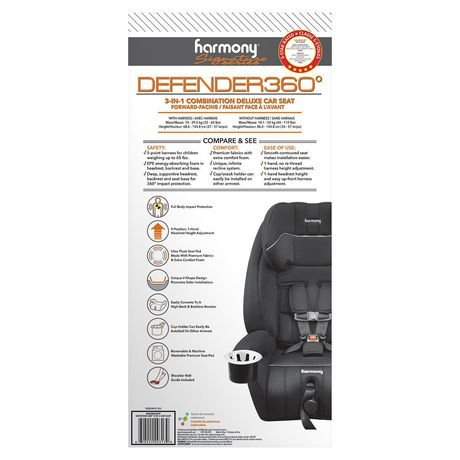 Defender 360° 3-in-1 Combination Deluxe Car Seat - Midnight - image 7 of 9
