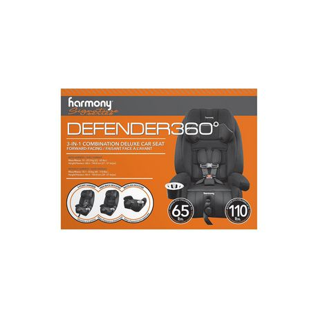 Defender 360° 3-in-1 Combination Deluxe Car Seat - Midnight - image 8 of 9