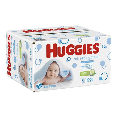 Lingettes pour bébés HUGGIES One and Done rafraîchissantes, recharges (emballage de 6, total de 1008 feuilles), parfumées, sans alcool, hypoallergéniques - image 2 de 2