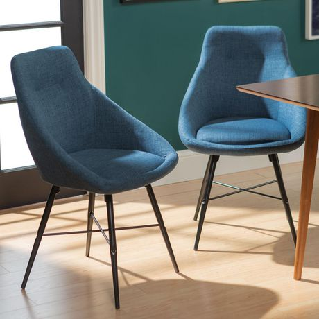 Urban Upholstered Side Chair, Set of 2 - Blue - image 1 of 8