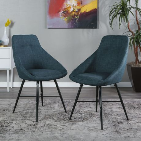 Urban Upholstered Side Chair, Set of 2 - Blue - image 4 of 8