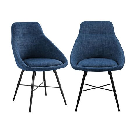 Urban Upholstered Side Chair, Set of 2 - Blue - image 7 of 8