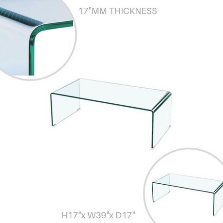 Waterfall Glass Coffee Table Small Walmart Canada