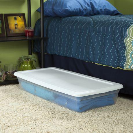 sterilite 39 liter underbed white storage box walmart canada. Black Bedroom Furniture Sets. Home Design Ideas