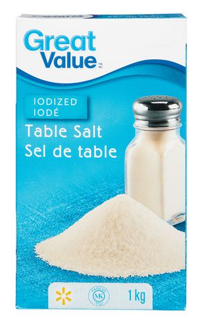 Sel de table iodisé Great Value - image 1 de 2