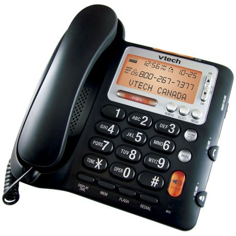 Walmart Stock Phone Number >> Vtech CD1281 Corded Telephone with Caller ID and Speakerphone | Walmart Canada