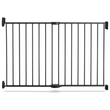"Munchkin Push to Close Hardware Baby Gate, Extends 28.5"" to 45"" Wide, Dark Grey - image 1 of 5"