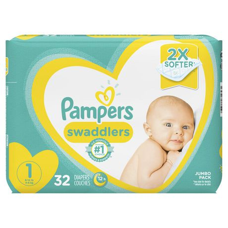 Couches pampers swaddlers pour nouveau n s walmart canada - Couche pour piscine pampers ...