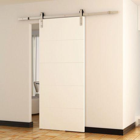 HomCom Modern 8' Interior Sliding Barn Door Kit | Walmart ...
