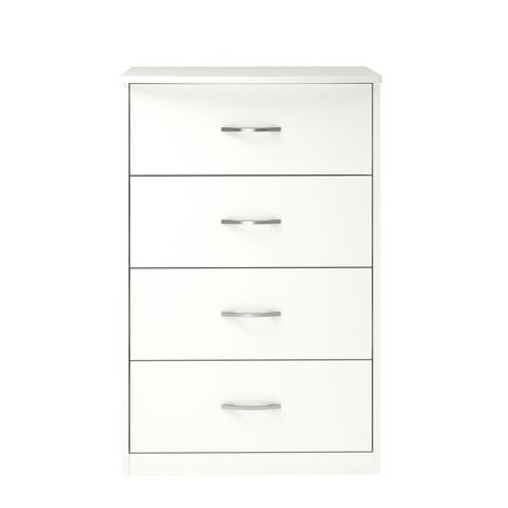 Ameriwood MAINSTAYS Berkson 4 Drawer Dresser, White - image 3 of 8