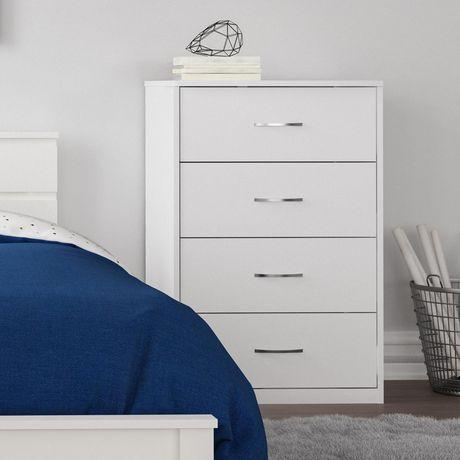 Ameriwood MAINSTAYS Berkson 4 Drawer Dresser, White - image 1 of 8