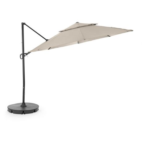 hometrends Round Offset Umbrella and Base - image 2 of 9