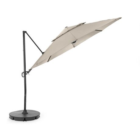 hometrends Round Offset Umbrella and Base - image 3 of 9