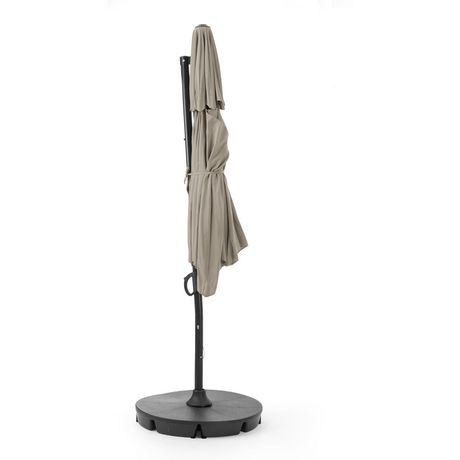 hometrends Round Offset Umbrella and Base - image 4 of 9