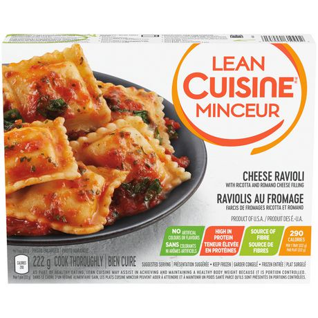 Lean cuisine selections cheese ravioli ricotta and romano for Average price of lean cuisine