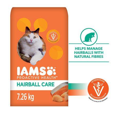 Nourriture sèche pour chats protection contre boules de poils Proactive Health d'IAMS - image 1 de 2