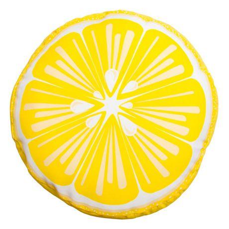 hometrends Lemon Outdoor/Indoor Round Toss Cushion - image 1 of 2