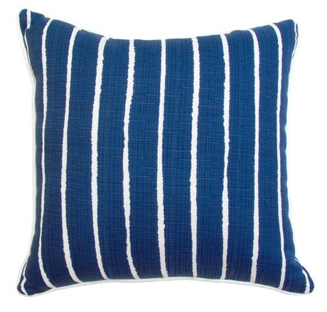 hometrends Blue Stripe Outdoor/Indoor Toss Cushion - image 1 of 2