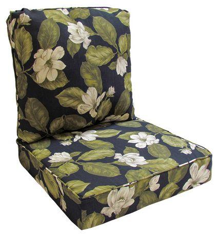 Hometrends Black Fl Deep Seat, Deep Seating Patio Cushions Canada