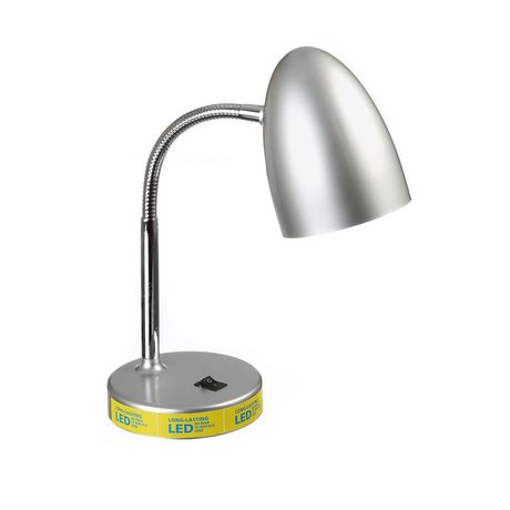 MAINSTAYS Silver LED Desk Lamp - image 1 of 1