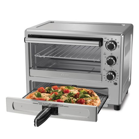 Oster 174 Stainless Steel Convection Oven With Pizza Drawer
