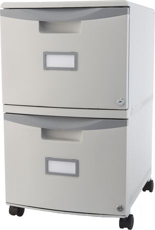 Storex 2-Drawer Mobile File Cabinet with Lock | Walmart Canada