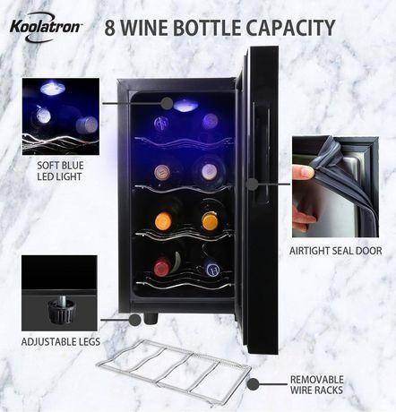 Koolatron WC08 8 Bottle Thermoelectric Wine Cooler - image 3 of 5