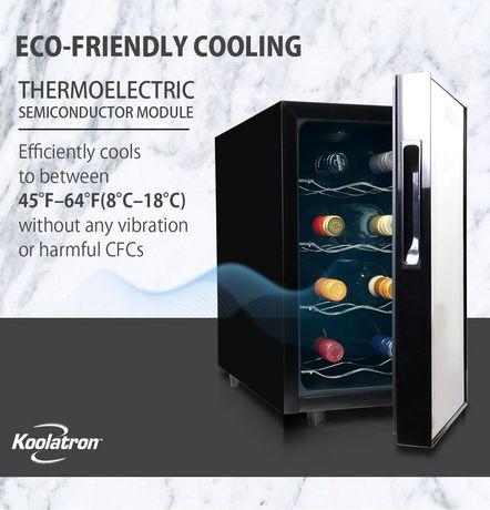 Koolatron WC08 8 Bottle Thermoelectric Wine Cooler - image 5 of 5